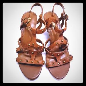 Ralph Lauren Leather Strappy Sandal with Studs 7